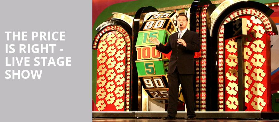 The Price Is Right Live Stage Show, VBC Mark C Smith Concert Hall, Huntsville